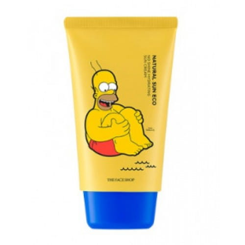 THE FACE SHOP Natural Sun Eco No Shine Hydrating Sun Cream (The Simpsons) SPF40 PA+++ 50ml