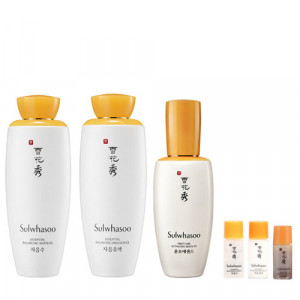 SULWHASOO Essential Balancing Water 125ml + Essential Balancing Emulsion 125ml + First Care Activating Serum EX 90ml