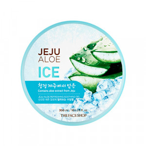 THE FACE SHOP Jeju Aloe Refreshing Soothing Gel 300ml