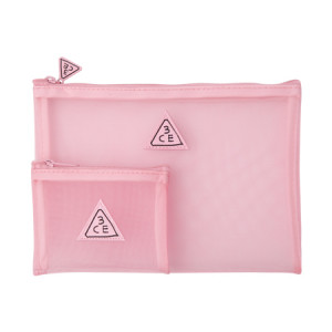 STYLENANDA 3CE Pink Rumour Mesh Pouch
