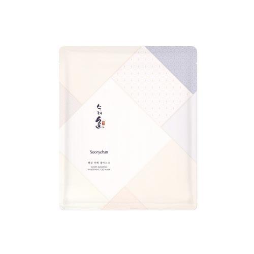 Листовая маска с белым женьшенем Sooryehan White Ginseng Whitening Gel Mask 28g