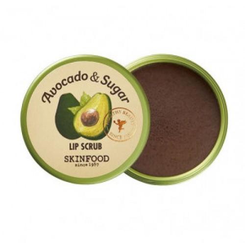 Скраб для губ с авокадо Skinfood Avocado & sugar lip scrub 14g