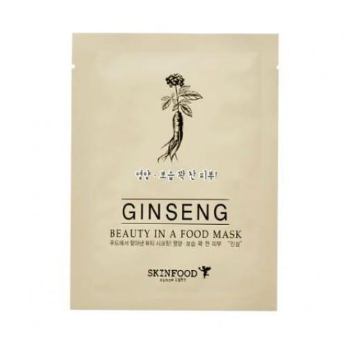 Листовая маска с женьшенем Skinfood Beauty in a food mask sheet GINSENG