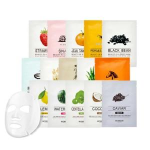 Листовые маски для лица с растительными экстрактами Skinfood Beauty in a food mask sheet 1ea