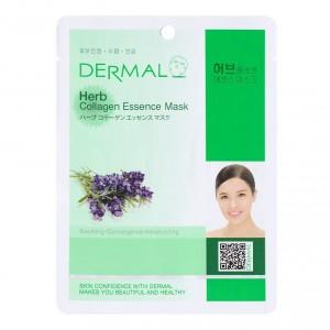 Листовая маска с растительным коллагеном Dermal Herb collagen essence mask 23g