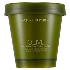Очищающая маска для кожи головы Nature Republic Natural olive scalp cooling hair pack 200ml