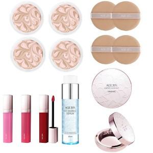 Комплект средств (кейс+2 рефилла+2 паффа+сыворотка+помада) Age20's Essence cover pact set (case1+refill2+puff2+serum1+lipstick1)