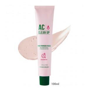 Успокаивающая маска для проблемной кожи Etude House AC clean up pink powder mask 100ml