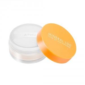 Минеральная пудра с солнцезащитным эффектом Apieu Mineral 100 tone up sun powder spf50+ pa+++