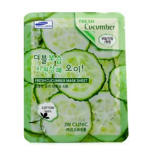 Комплект листовых масок с огурцом 3w Clinic fresh mask sheet [cucumber] x10sheet