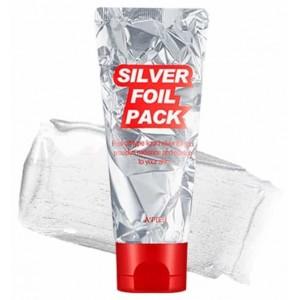 Серебряная пленочная маска фольга A'PIEU - Silver Foil Pack