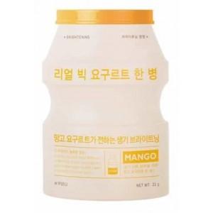 Тканевая маска с экстрактом манго APIEU Real Big Yogurt One-Bottle Mango 21g