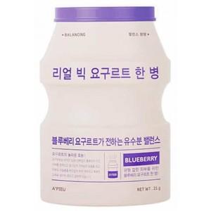 Тканевая маска с экстрактом голубики APIEU Real Big Yogurt One-bottle Blueberry 21g