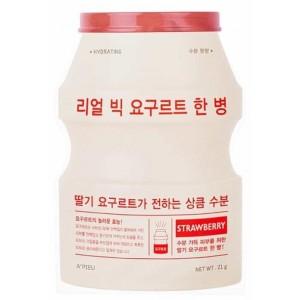 Тканевая маска с экстрактом клубники APIEU Real Big Yogurt One-Bottle 21g (Strawberry)